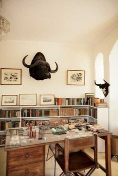 Hemingway's library at Finca Vigia, just as he left it in 1960, Photo by Eric Kiel