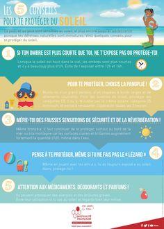 [#Infographie] Les 5 conseils pour protéger les #enfants du #soleil.