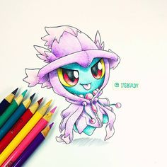 Artist: Itsbirdy | Pokémon | Misdreavus