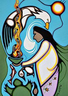 Friends United by Rolf Bouman - Home of Friends United - Native Art - Canada Native American Artwork, Native American Artists, American Indian Art, Native American Symbols, Inuit Kunst, Inuit Art, Native Canadian, Canadian Art, Kunst Der Aborigines