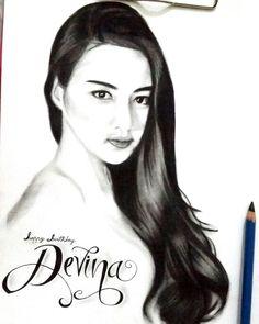 Woman Sketch realist drawing pencil