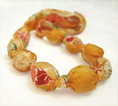 Katrinshine: Summer necklace SUNNY FLOWERS