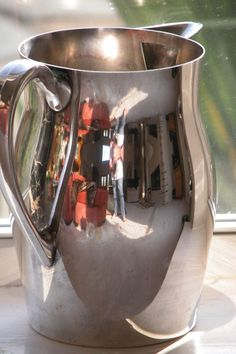 Stainless Steel Pitcher for Summer Lemonade Fun!  found on Ruby Lane