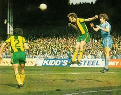 Man City 1 West Brom 3 in April 1978 at Maine Road. Ally Robertson heads away from Brian Kidd West Bromwich, 1970s, Maine, English, Football, In This Moment, City, Sports, Soccer
