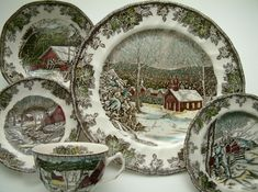 Estelle's: Johnson Brothers, Transferware and Toile. This is the exact china that my grandmother has! Lots of good memories around the dinner table and these plates.