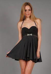 Bow Dress in Black by Donna Mizani