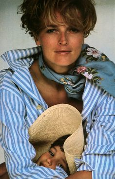 Oliviero Toscani for American Vogue, June 1984. Clothing by Ralph Lauren.