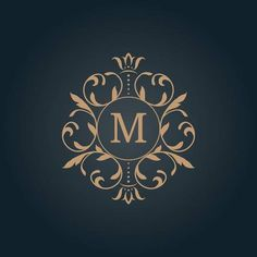 Find Elegant Monogram Design Template Calligraphic Floral stock images in HD and millions of other royalty-free stock photos, illustrations and vectors in the Shutterstock collection. Monogram Design, Monogram Logo, Monogram Letters, Monogram Template, Wedding Logo Design, Wedding Logos, Typography Logo, Art Logo, Family Logo