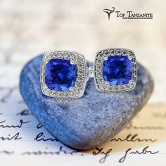 Get this most stylish pair of tanzanite Earrings online at toptanzanite.com at best reasonable price.