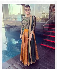 Get the latest trends ruling the charts in India. With the most fashionable range of apparels, accessories, and more, Limeroad will be your favourite of all online shopping sites. Choli Designs, Lehenga Designs Simple, Simple Lehenga, Indian Wedding Outfits, Indian Outfits, Indian Clothes, Indian Attire, Indian Wear, Pakistani Dresses