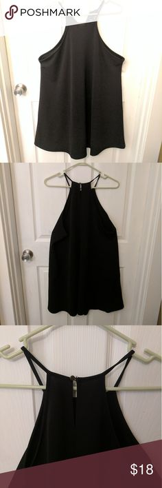 Forever 21 Plus + 1X High Neck Black Dress Dress from Forever 21 Plus + purchased online winter of 2016, high neck, button clasp, black, mini-to-midi length depending on height. Worn once and washed. Very comfortable and breathable material. Cloth-like material but not heavy; customers of Forever 21 will be used to the fabric - very similar to other dress material from brand. Durable through wash. Cute with heels and goes well with bandeau or strapless bra! Forever 21 Dresses Mini