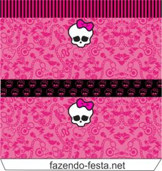 Kit Monster High en Rosa, para Imprimir Gratis.