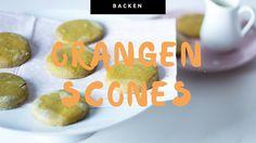 Rezept für leckere Orangenscones