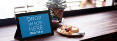 New Mockup! Windows Tablet on a Restaurant Table. Try it here: https://placeit.net/stages/mockup-of-a-windows-tablet-on-a-restaurant-table-a4336