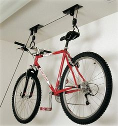 bike hoist easy to use and store bikes out the way