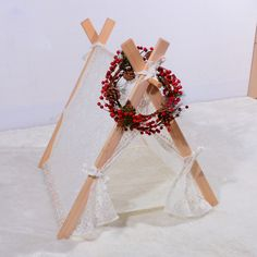 New design  square design lace cotton pet nest  Pet play House  play teepee tent lovely warm dog play bed