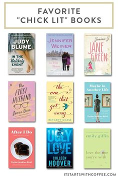 sharing my favorite chick lit books which are great as gifts or for travel or just for fun personal reading when you need something a little more fun Book Club Books, Book Nerd, Book Lists, The Book, Best Books To Read, I Love Books, Good Books, My Books, Music Books