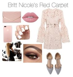 """""""Britt Nicole Red Carpet Outfit for the VMAS"""" by arianagrande1962 on Polyvore featuring Sasha and Lime Crime"""