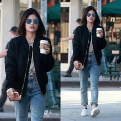 Lucy doing some grocery shopping with Anthony in Studio City // January 13th, 2017. • #lucyhale