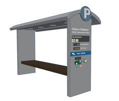 Payment Kiosks for Urban Wayfinding — Example of configuration of the system.