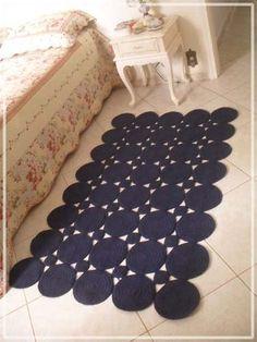 элегантный коврик из круглых мотивов