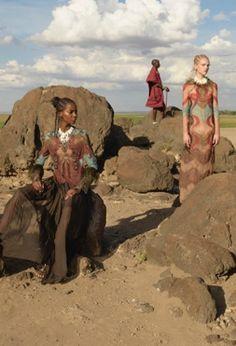 Valentino Spring 2016 campaign shot in Kenya #masaai