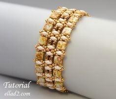 Tutorial Champagne Bracelet - Beading Tutorial, instant download, PDF, Beading pattern