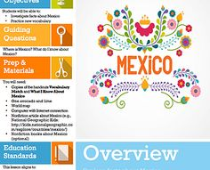 FREE Lesson 5--Focusing on the country of Mexico, this lesson helps kids to understand more about Mexican culture including the country's flag, produce, and currency.
