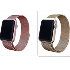 New+Milanese+Loop+Stainless+Mesh+Replacement+Wrist+Band+for+Apple+Watch+Sport+Edition+Champagne+Gold+And+Rose+38mm+42mm+–+USD+$+39.99