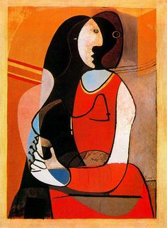 """artist-picasso: """"Seated woman, 1927, Pablo Picasso """""""