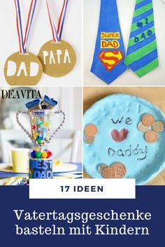 Damit sich jeder Vater am Vatertag speziell und geliebt fühlt, können Sie Vatertagsgeschenke basteln mit Kindern und dem Papa eine große Freude bereiten. Die Ideen dafür sind zahlreich und lassen sich ganz individuell gestalten.