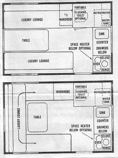 Shasta Compact Floor Plan | Good Stuff! | Amateur radio - Teardrop trailers, Vintage Shastas ...