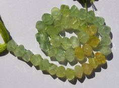 1/2 Strand 20 Pcs 8x8 mm Natural Prehnite by RareGemsNJewels