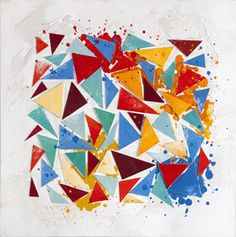 Trendykunst presenteert dit prachtige abstracte olieverfschilderij in felle kleuren.  Olieverfschilderijen zijn met de hand geschilderd op doek.