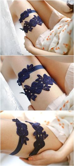 something blue wedding garter / http://www.deerpearlflowers.com/wedding-garters-sets-from-etsy/