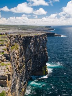 Behold the magnificent cliffs at Dun Aengus on Inishmore in County Galway. What a view!