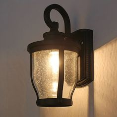 This wall sconce will looks great  near entryways, garage doors, porches...