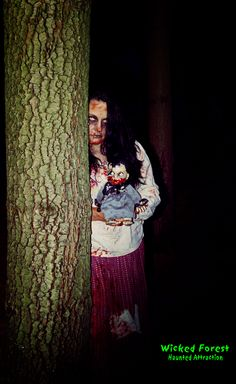 Katie at the Wicked Forest Haunted Attraction in Logan, Ohio