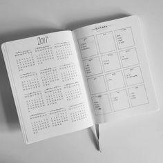 Bullet Journal Future Log by @black.tea.books