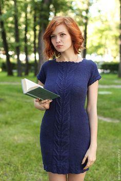 Купить или заказать Платье ' Индиго' в интернет-магазине на Ярмарке Мастеров. Вязаное летнее платье Скидка на готовую работу 2000!!!