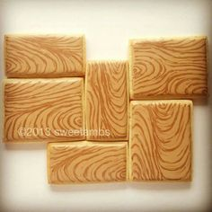 Wood grain cookies