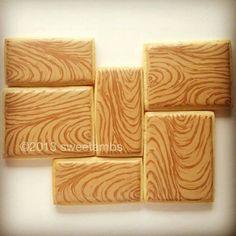 Wood grain cookies