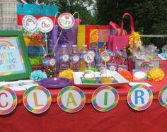 rainbow unicorn birthday ideas - Google Search