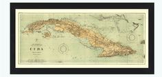 Old Map of Cuba 1898 Vintage Map - product image