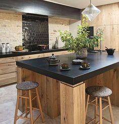 Luxury Small Kitchen Make It Work: Smart kitchen design solutions for narrow galley kitchens cabinet open cubbies above the cabinets for stashing cookbooks and infrequently used appliances. small kitchen decor for kitchen ideas New Kitchen, Kitchen Dining, Kitchen Decor, Kitchen Island, Kitchen Wood, Kitchen Ideas, Kitchen Backsplash, Kitchen Modern, Kitchen Cabinets