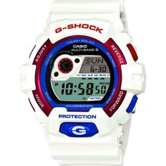 Casio G-Shock Tricolor Multi-Band GW-8900TR-7 Watch | White