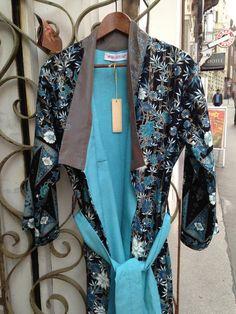 wonderful brilliant combination of silk and Batik