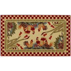 Rooster-Checkered-Non-skid-Kitchen-Mat-Rubber-Back-Rug-18-x-30