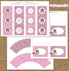 freeowlprintables - in pink... wonder if I can change the color