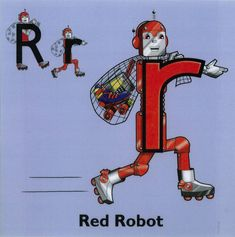 "Who's that making th e growling sound? Oh that's Red Robot and he loved to sing the song of ""Red Robot "", sung to . School Classroom, School Teacher, Letterland Costumes, Alphabet Party, Robot Costumes, Grammar Activities, Home Learning, Classroom Inspiration, Fine Motor"